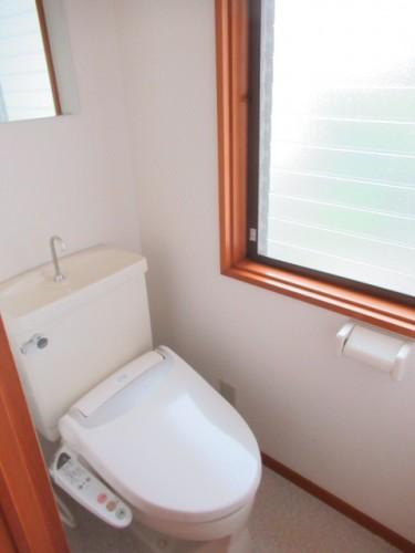 トイレに窓があります!