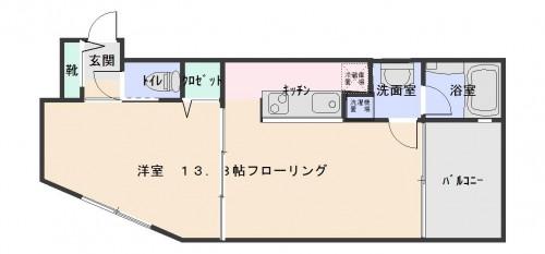 広々1Kとしても、スライドドアで仕切って1DKとしてもフレキシブルに使用可能!窓も多く、明るい室内!