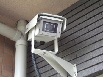 敷地内複数防犯カメラ設置!