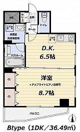 南向き東南角部屋の1DKです。