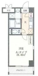 グランドピアノC3も置けるスペース! 8.2帖の洋室。503号室は間取図の反転タイプです。
