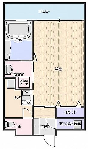 バスルームにも窓!爽やかなシャワータイムを提供。 南向き!陽当り良好なお部屋です!!