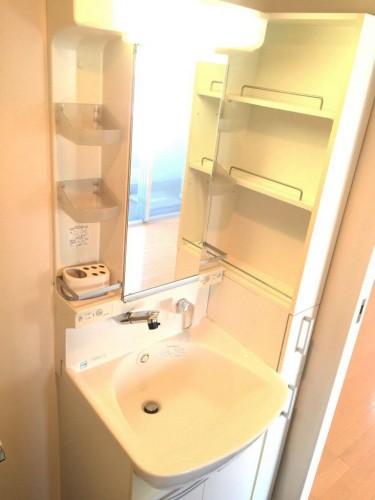 独立洗面台はシャンプードレッサータイプ!収納力もあります♪
