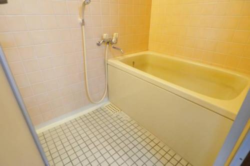 お風呂も広いです。ゆったりバスタイム。