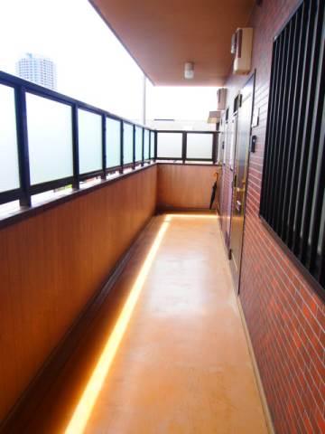 きれいな廊下です。