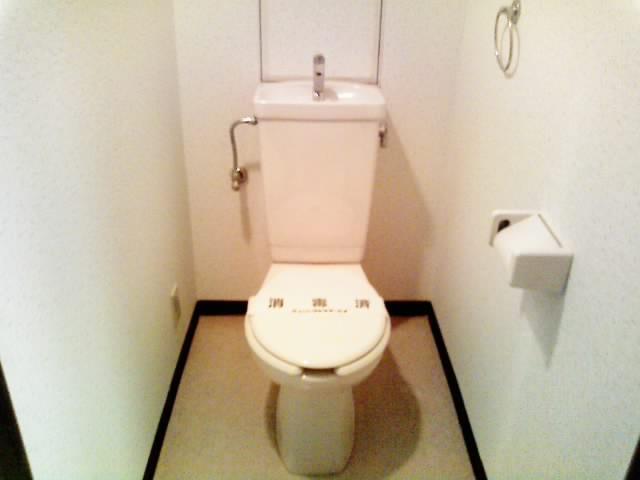 トイレは手を洗えるタイプです。