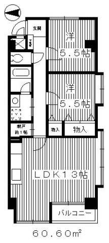 2階角部屋のお部屋です。