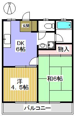 洋室と和室の間取り。ペットと一緒に住めるお部屋。