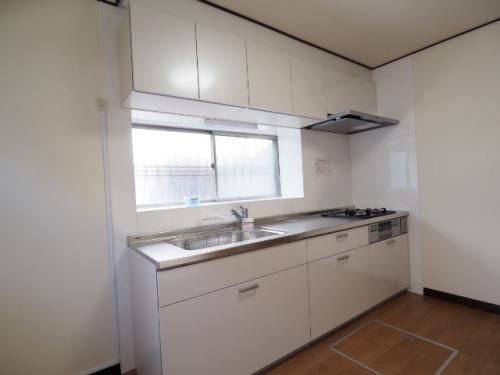 調理スペースが広いシステムキッチン
