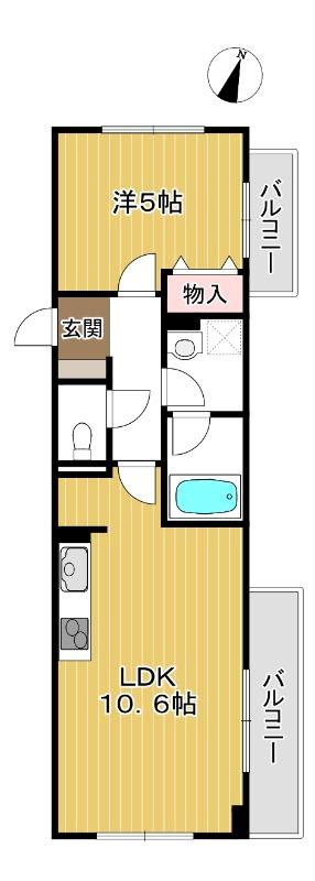 リビングと寝室がしっかり分けられる間取り。