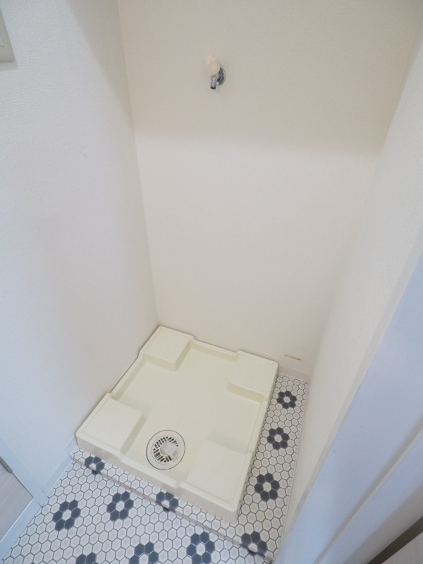 防水パン付きの洗濯機置場で安心