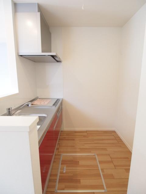 キッチン後ろのスペースはこんな感じ