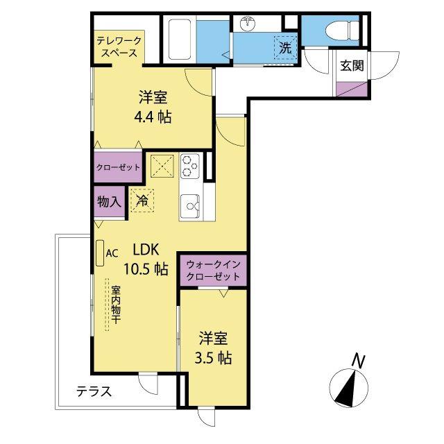各居室に収納があります