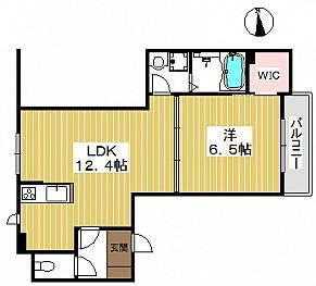 広い12.4帖と6.5帖の寝室空間
