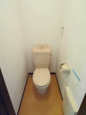 ゆったりトイレ。手を洗えます。