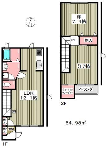 お部屋も広く、収納が豊富でファミリーでも安心。