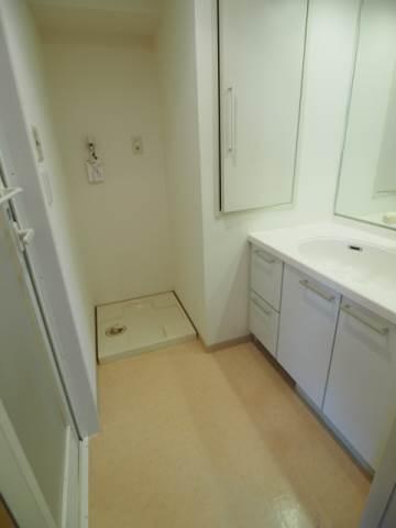 洗濯機置場も脱衣所にあります。