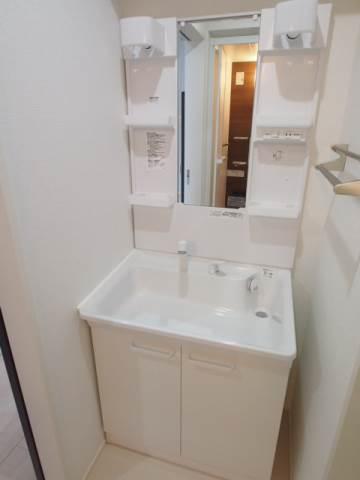 独立洗面台は嬉しい設備ですね。