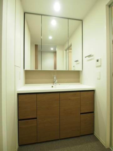 洗面台はシャワーもついて大きな洗面ボウルも魅力。