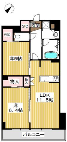 WICが二つ付いたお部屋です。