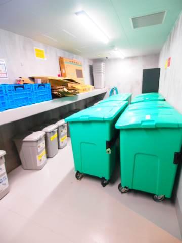 ゴミ置場は24時間利用可能です。