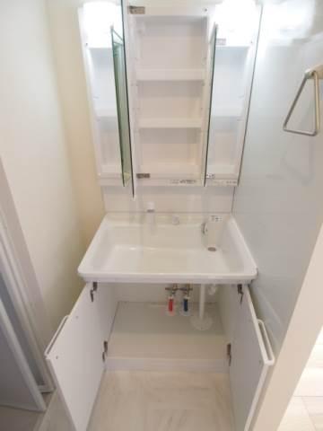 洗面台の収納力も抜群です。