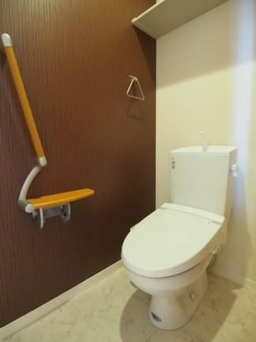 トイレもきれいで多機能です。
