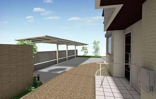 駐輪場は屋根付きの予定です。