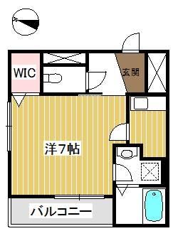 広い単身用のお部屋。収納も大きくて嬉しい。