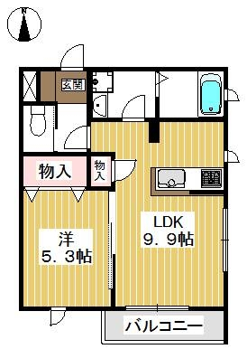 ゆとりある広さの1LDK。設備充実、収納も豊富です。