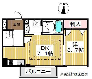 二部屋とも南向きです。収納も大きめ。