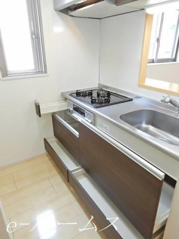 3口コンログリル付システムキッチンは人気のカウンターK
