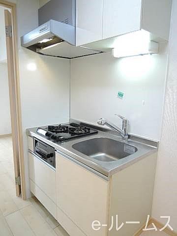 2口ガスコンロ・グリル付システムキッチン