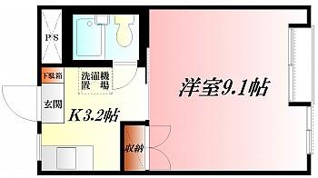 ◆窓開口の大きい明るく広々とした洋室9.1帖◆