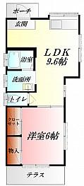 埼玉慈恵病院そばの平屋建ての貸家1LDK