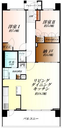 ◆14階建の10階部分◆開放的で使いやすい間取りの2LDK◆