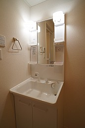シャワー付き洗面化粧台です。