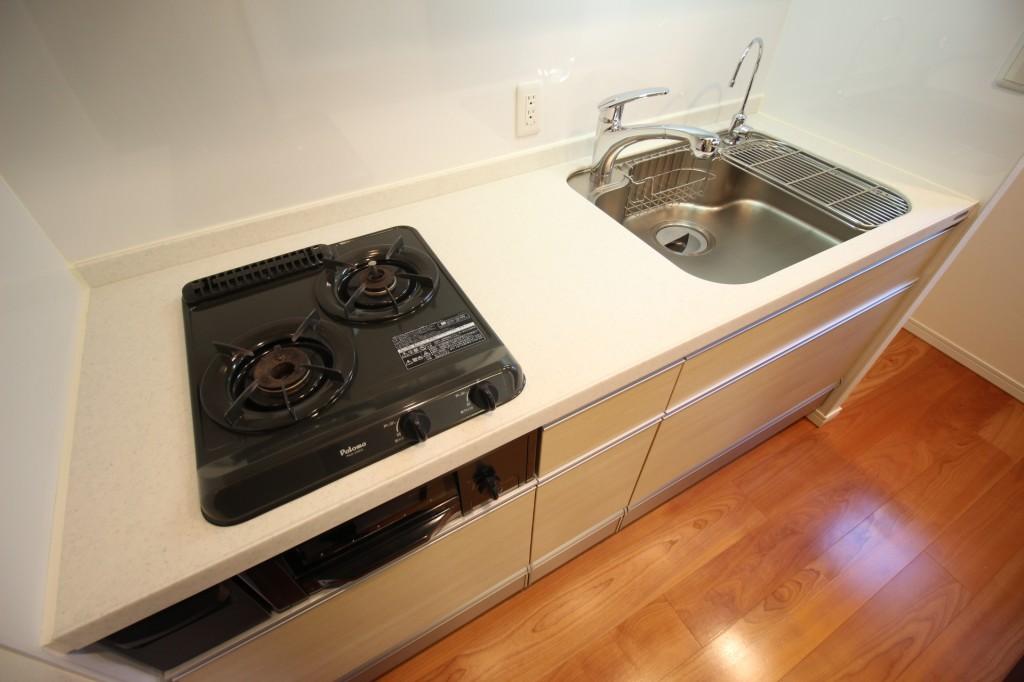 調理スペースも確保されていて、お料理捗りますね!