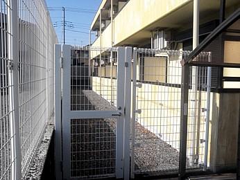 バルコニー側フェンス