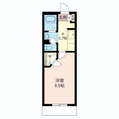 居室8帖以上、バストイレ別、独立洗面台、大型収納等今現在のニーズに合ったプランです。
