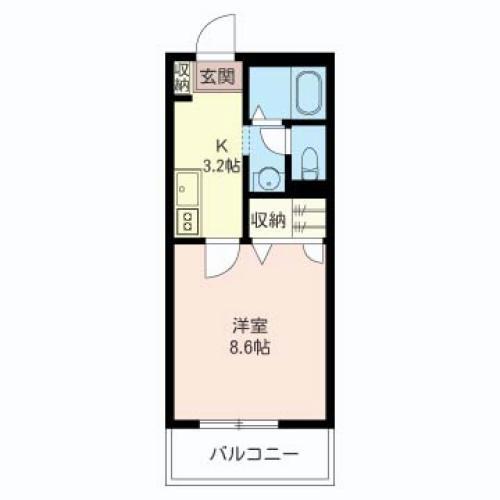 8帖超のゆとりある居室、独立洗面台も現在のニーズに合ったプランです。