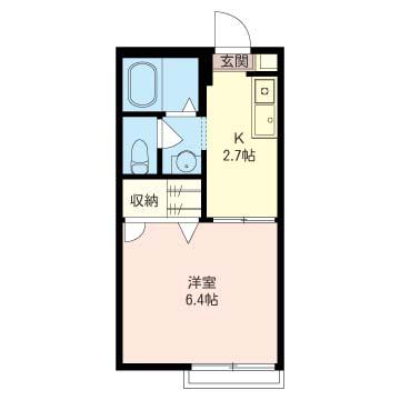 居室6帖以上でバス/トイレ別、独立洗面台等今のニーズに合ったプランです。