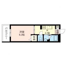 居室6帖以上、バストイレ別、独立洗面台等今現在の単身者様のニーズに合ったプランです。