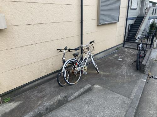 駐輪スペースです!