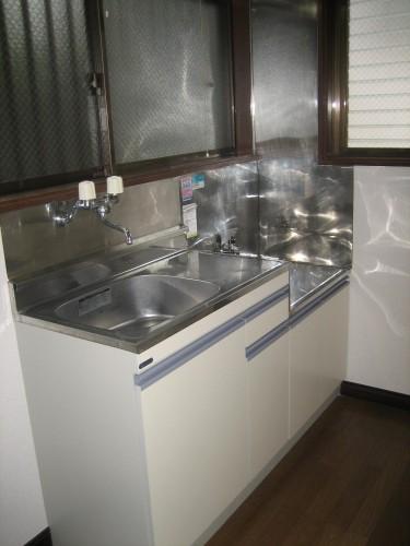 使いやすいキッチン台です!2口ガスコンロ!