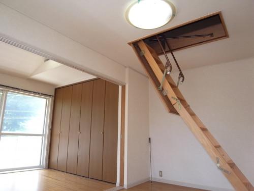 天井収納式ロフト用梯子