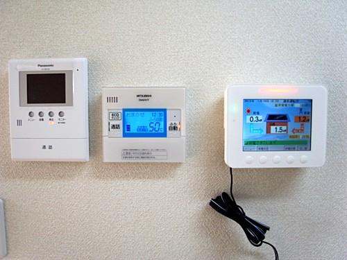 ソーラーパワーコンディション用表示ユニット・インターホーン(モニター付)