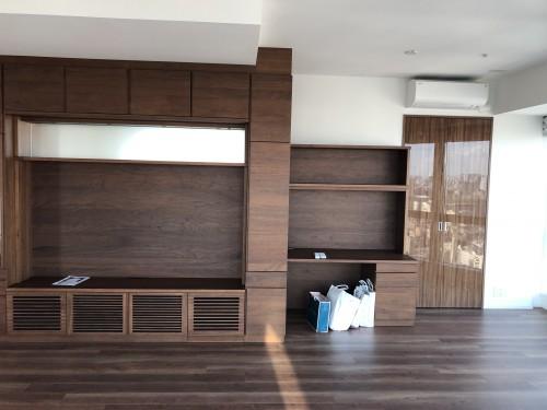 リビングの作り付け家具