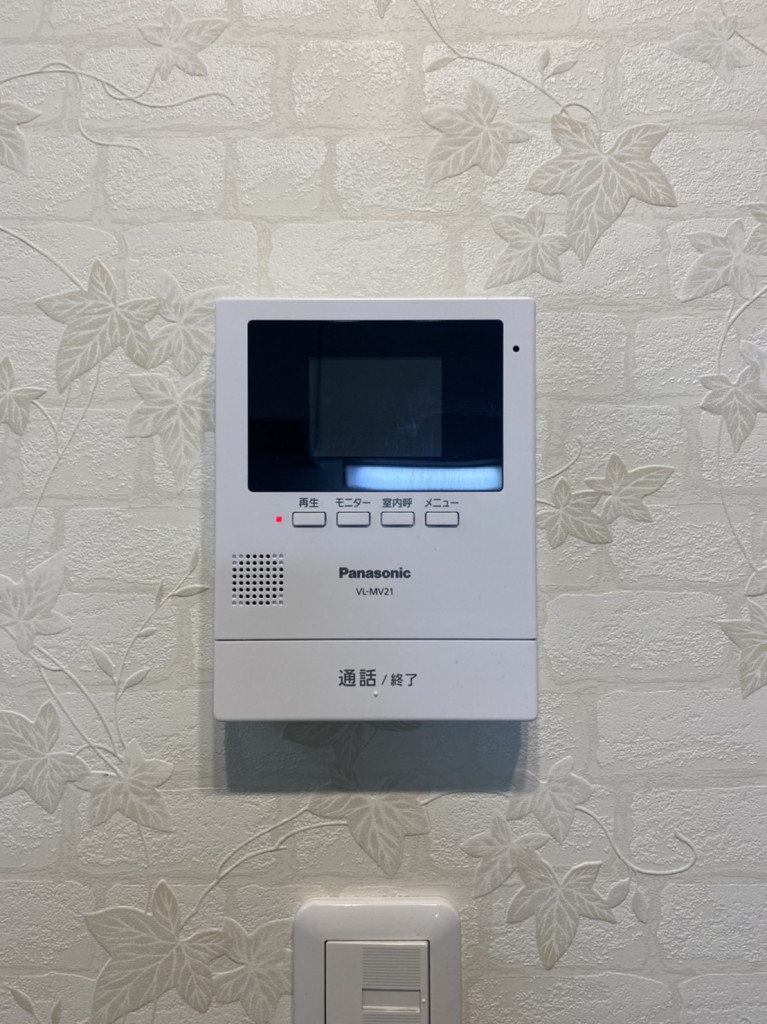 TVモニター付きインターホン完備で急なご来客の際も安心です