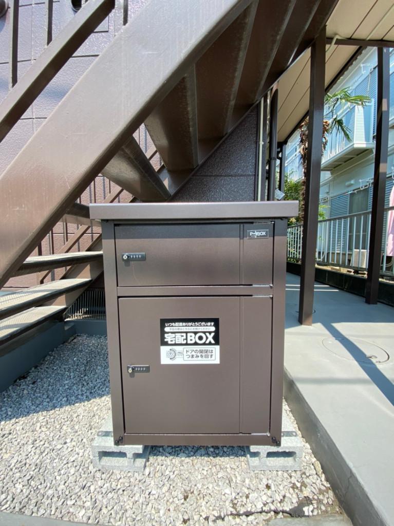 荷物の受け取りが楽々 宅配BOX完備です。